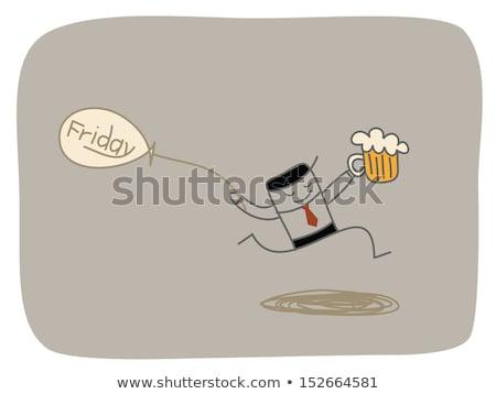 Nice giorno bene birra uomo bevande Foto d'archivio © tiKkraf69