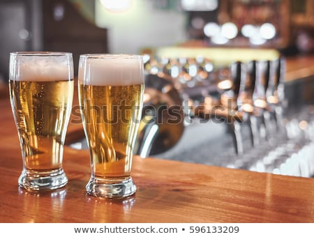 Two glasses of beer Stock photo © mikdam