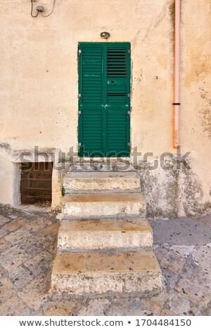 Typowy włoski weranda rowerów głęboko Zdjęcia stock © eddygaleotti