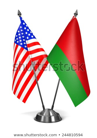 USA and Belarus - Miniature Flags. Stock photo © tashatuvango