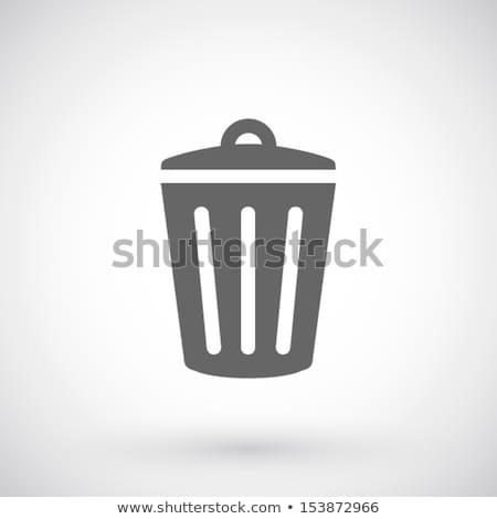 вектора мусорное ведро икона символ Recycle бизнеса Сток-фото © thanawong