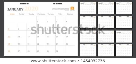 January Calendar Page Stock photo © stevanovicigor