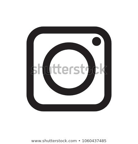 digital camera simple icon on white background stock photo © tkacchuk