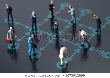 Társasági elszigeteltség digitális táblagép internet technológia Stock fotó © stevanovicigor