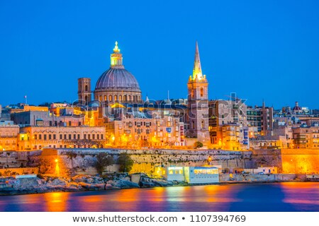 Saint Paul's Anglican Cathedral and Carmelite Church in Valletta Stock photo © anshar