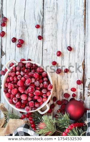 cowberry over white stock photo © fantazista