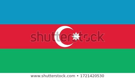 Ikona banderą Azerbejdżan odizolowany biały podróży Zdjęcia stock © MikhailMishchenko