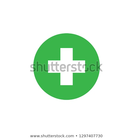 Ambulance groene vector icon ontwerp digitale Stockfoto © rizwanali3d