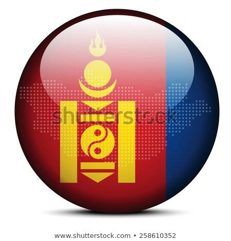 Térkép pont minta zászló gomb Mongólia Stock fotó © Istanbul2009