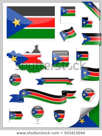 Térkép zászló gomb köztársaság dél Szudán Stock fotó © Istanbul2009