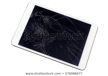 Tablet with a shattered screen Stock photo © ozgur