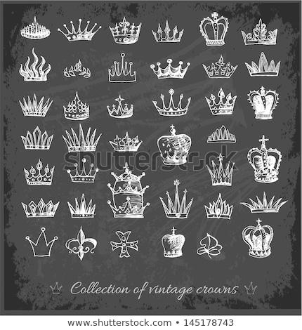 corona · lavagna · mano · scuola · sfondo · arte - foto d'archivio © Sonya_illustrations