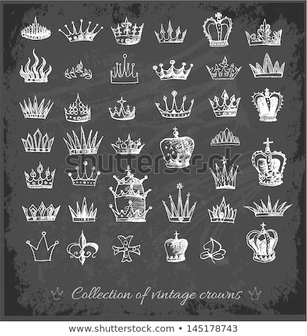 príncipe · princesa · corona · rey · reina · vector - foto stock © sonya_illustrations