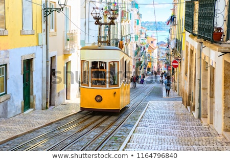 Traditional Tram On Street Stock photo © AndreyPopov