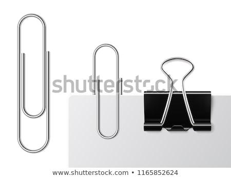 черный скрепку бизнеса металл документы стали Сток-фото © ozaiachin