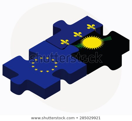 european union and guadeloupe flags in puzzle isolated on white stock photo © istanbul2009