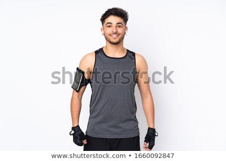 man exercising isolated on white stock photo © elnur
