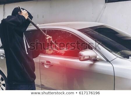 tolvaj · autó · ajtó · férfi · biztosítás · kesztyű - stock fotó © wavebreak_media