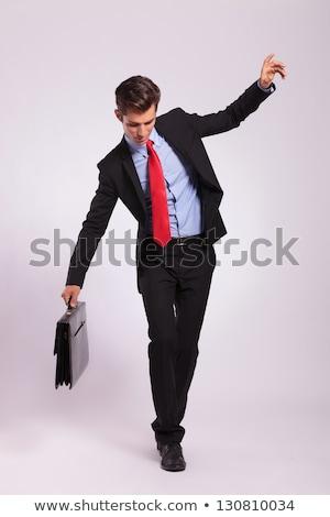 ビジネスマン 虚数 ロープ 孤立した ビジネス 作業 ストックフォト © fuzzbones0