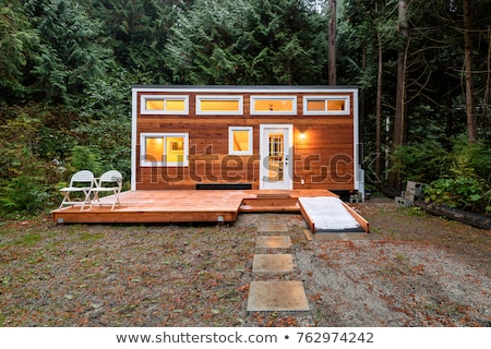 Small wooden cottage in forest Stock photo © Mps197