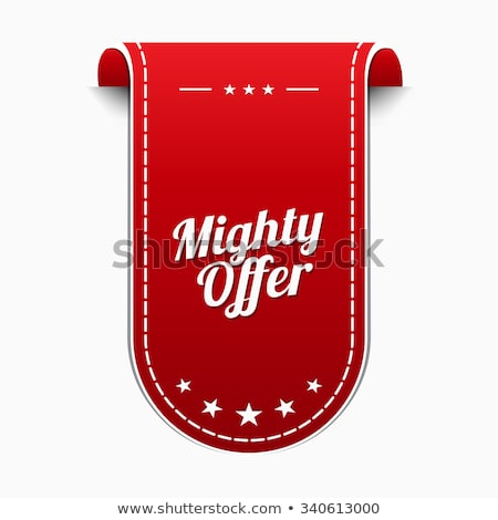 mighty offer red vector icon design stock photo © rizwanali3d