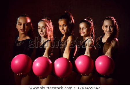 Portrait joli acrobat femme gymnaste costume Photo stock © deandrobot