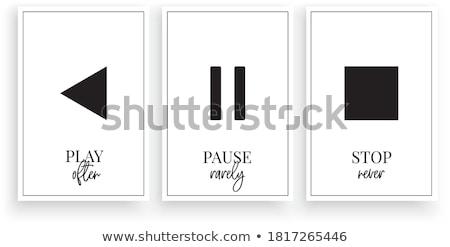 Foto stock: Pare · palavra · teclado · branco · computador · tecnologia