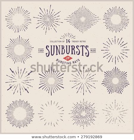 セット · ヴィンテージ · グラフィック · 要素 · 光 · 日光 - ストックフォト © m_pavlov