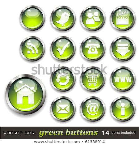 Download video verde vettore icona pulsante Foto d'archivio © rizwanali3d