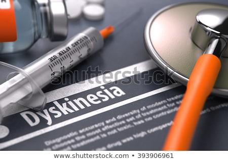 Diagnosis - Dyskinesia. Medical Concept. 3D Render. Stock photo © tashatuvango