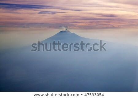 Mexikó vulkán égbolt tűz város hegy Stock fotó © lunamarina