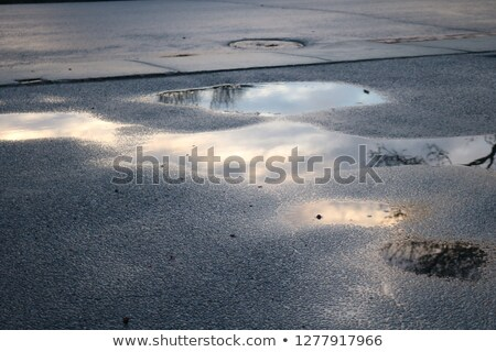 Country Road with puddles Stock photo © Kotenko