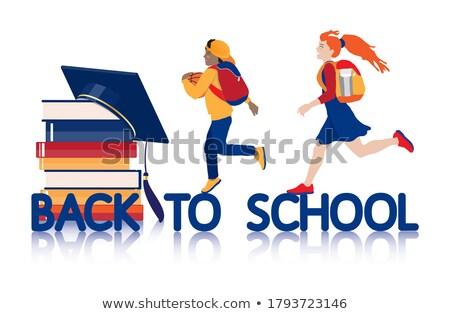 Livro azul celebrar graduação estudante faculdade Foto stock © jarp17