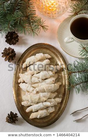 Román sütik házi készítésű fehér háttér eszik Stock fotó © igabriela