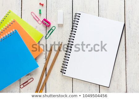 blue notebook and pencil Stock photo © prill