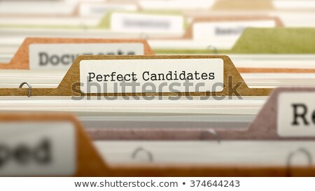 Wanted Concept. Folders in Catalog. Stock photo © tashatuvango