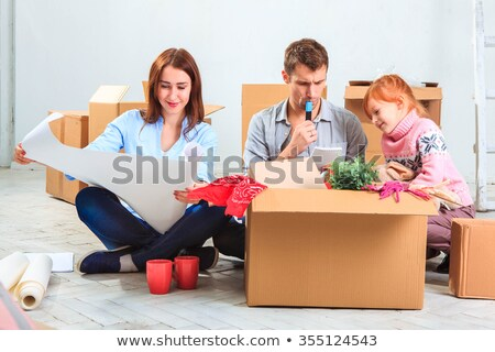 The hands of  family  at repair and relocation Stock photo © master1305