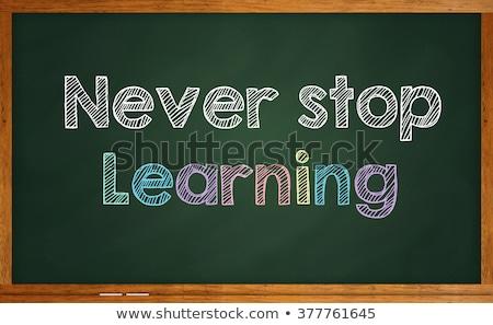Never Stop Learning - Motivation Quote on Chalkboard. Stock photo © tashatuvango