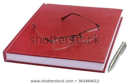 Maroon colored thesis papers Stock photo © bdspn