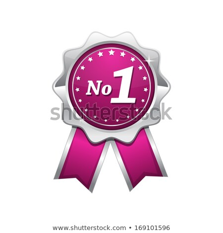 number one quality guaranteed pink seal vector icon stock photo © rizwanali3d