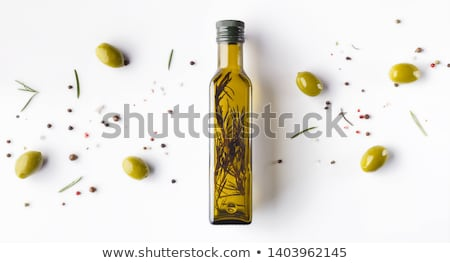 extra virgin olive oil glass bottle stock photo © marimorena