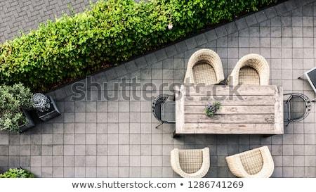 udvar · belső · udvar · szint · vonal · építkezés · kő - stock fotó © ozgur