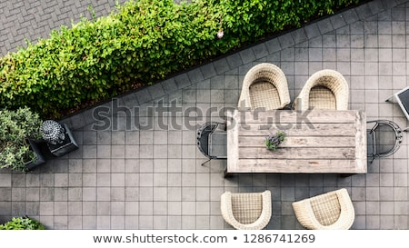 Comfortable Seating on Luxury Stone Patio Stock photo © ozgur