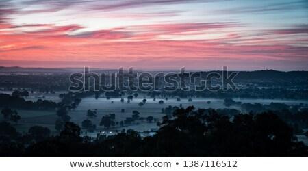 Fagyos reggel napfelkelte Wales Stock fotó © chris2766