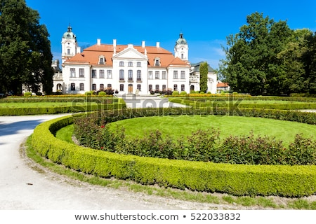 Paleis tuin Polen kasteel architectuur plant Stockfoto © phbcz