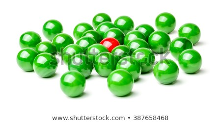 Concept with red and green marbles -  Harassment Stock photo © Zerbor