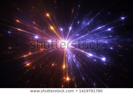 Explosie vuurwerk krachtig heldere gouden stof Stockfoto © smeagorl