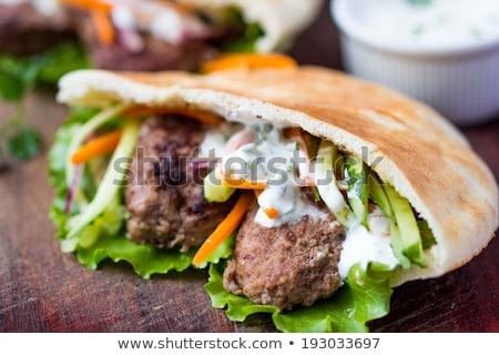 Pork and vegetable sandwich Stock photo © Digifoodstock