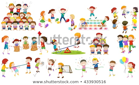 crianças · jogar · humanismo · pirâmide · ilustração · escolas - foto stock © bluering