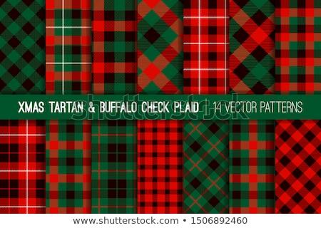 白 緑 黒 テーブルクロス パターン 背景 ストックフォト © zhekos